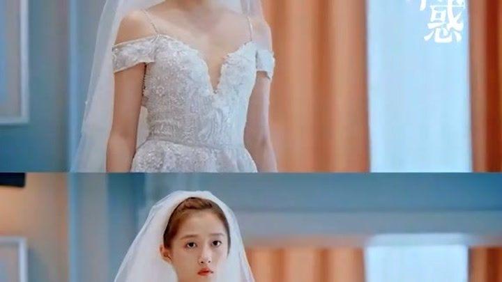 婚紗加身的梁爽,簡直是仙女下凡,關曉彤婚紗造型