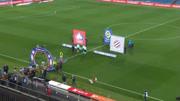 华体会体育赞助里尔法甲联赛第十七轮比赛精彩回顾 里尔3-2蒙彼利埃 维赫禁区内右脚打球门中路得手